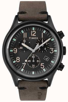 Timex Heren mk1 sst chrono 42mm zwarte kast zwarte wijzerplaat TW2R96500