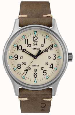 Timex Heren mk1 sst chrono 40mm bruine lederen horlogeband TW2R96800