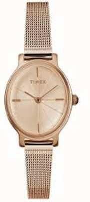 Timex Dameshorloge in milano, ovaal, roségoud TW2R94300D7PF
