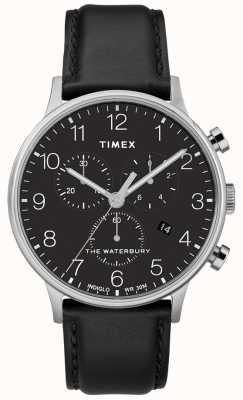 Timex Waterbury classic chronograph watch zwart herenhorloge heren TW2R96100D7PF