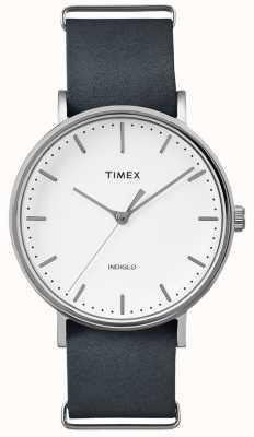 Timex Fairfield black strap 3 hand horloge TWF3C8140UK