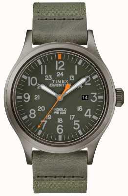 Timex Expeditie verkenner groene stoffen band TW4B14000D7PF