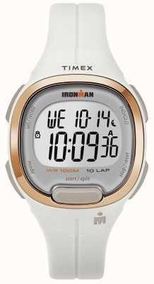 Timex IJzeren man essentieel wit en rosé gouden horloge TW5M19900SU