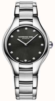 Raymond Weil Damessnoer voor dames, zwart, diamant 5132-ST-20081