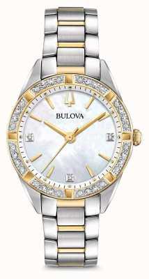 Bulova Dames tweekleurig diamanthorloge 98R263