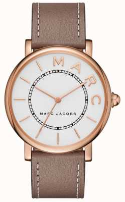 Marc Jacobs Dames marc jacobs klassiek horloge grijs leer MJ1533