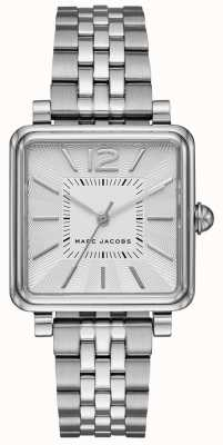 Marc Jacobs Womens vic horloge zilverkleurige wijzerplaat met vierkante wijzerplaat MJ3461