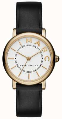 Marc Jacobs Dames marc jacobs klassiek horloge zwart leer MJ1537