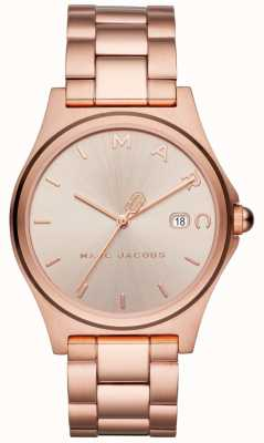 Marc Jacobs Dames Henry horloge rose goudkleur MJ3585