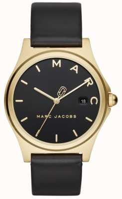 Marc Jacobs Dameshorloge Henry Henry zwart lederen band MJ1608