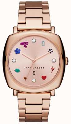 Marc Jacobs Dames mandy horloge rose goudkleur MJ3550