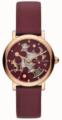 Marc Jacobs Dames marc jacobs klassiek horloge Burghundy leer MJ1629