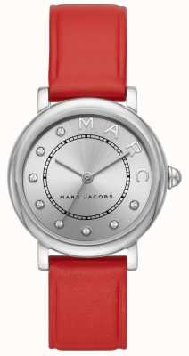 Marc Jacobs Dames marc jacobs klassiek horloge rood leer MJ1632