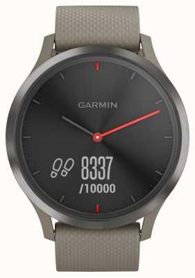 Garmin Vivomove hr activity tracker zandstenen band zwarte wijzerplaat 010-01850-03