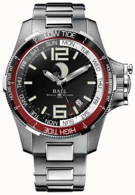 Ball Watch Company Ingenieur koolwaterstof tij horloge 42 mm DM3320C-SAJ-BK