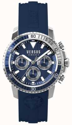Versus Versace Heren aberdeen blauwe siliconen band blauwe wijzerplaat S30040017