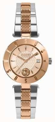 Versus Versace Dameslogo rose gouden wijzerplaat two tone armband SP77260018