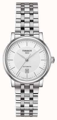 Tissot Damesauto'sop automatische roestvrijstalen zilveren wijzerplaat T1222071103100