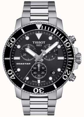 Tissot Heren seastar 1000 quartz chronograaf zwart / roestvrij staal T1204171105100