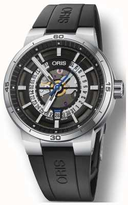 Oris Williams tt1 silicone rubberen band skeleton wijzerplaat 01 733 7752 4124-07 4 24 06FC