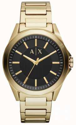 Armani Exchange Heren dress horloge goud pvd verguld AX2619