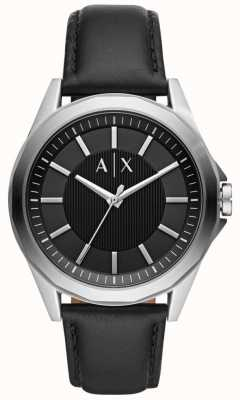 Armani Exchange Heren dress horloge zwarte band AX2621