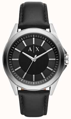 Armani Exchange Herenhorloge | zwarte lederen band | AX2621