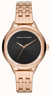 Armani Exchange Dames jurk horloge rose goud AX5606