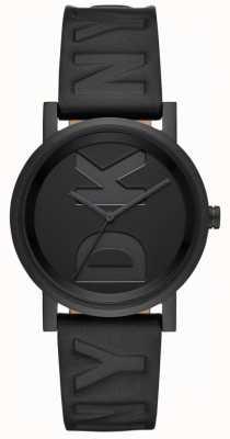 DKNY Dames soho horloge zwart lederen band NY2783