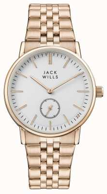 Jack Wills Dames buckley witte wijzerplaat rose goud pvd armband JW007WHRS