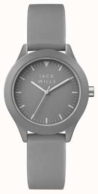 Jack Wills Womens union grijze wijzerplaat grijze siliconen band JW008GYGY