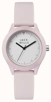 Jack Wills Womens union witte wijzerplaat roze siliconen band JW008PKPK