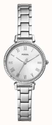 Fossil Kinsey roestvrij stalen band witte wijzerplaat Dames ES4448