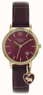 Radley Dameshorloge rosé gouden kast paarse band RY2718