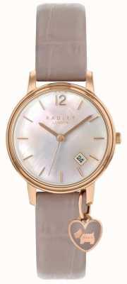 Radley Dames roségouden horloge spinneweb riem RY2720