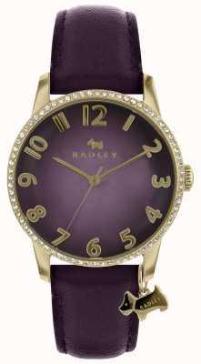 Radley Dames paars horloge met gouden kast RY2726