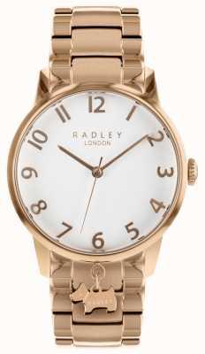 Radley Dames rosé gouden roestvrijstalen horloge RY4362