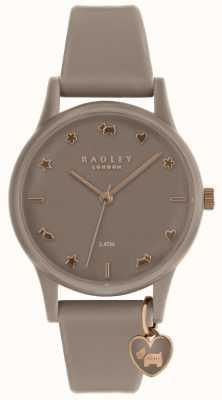 Radley Dames siliconen horloge met roségoud RY2694