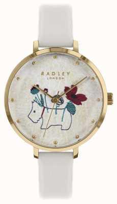 Radley Dameshorloge krijtband met bloemen en honden print RY2684