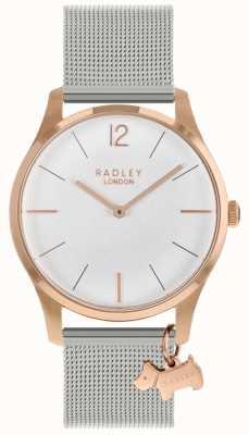 Radley Dameshorloge rosé gouden kast met zilveren horlogeband RY4355