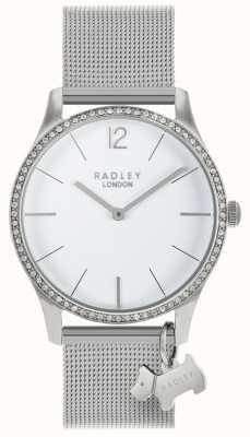 Radley Dames swarovski kristallen witte wijzerplaat roestvrijstaal RY4353