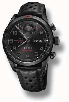 Oris Audi sport limited edition ii automatische zwarte leren riem 01 778 7661 7784-SET LS