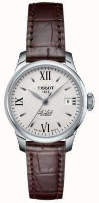 Tissot Ladies le locle slim automatisch lederen horloge T41111377