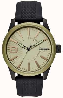 Diesel Heren rasp horloge zwarte rubberen band DZ1875