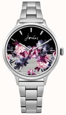 Joules Womens flora roestvrijstalen armband floral wijzerplaat JSL002SM