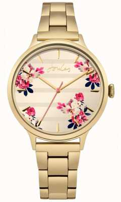 Joules Womens flora gouden pvd plated armband floral wijzerplaat JSL002GM