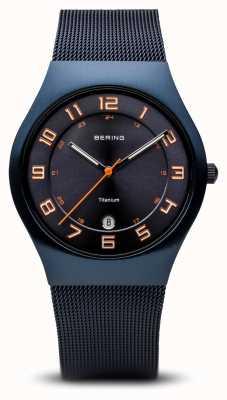 Bering Titanium | geborsteld blauw 11937-393