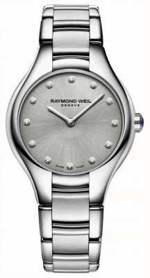 Raymond Weil Damessnoer van dameshorendiamant roestvrij staal 5132-ST-65081