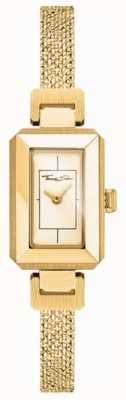 Thomas Sabo Dames roestvrij staal geel / gouden armband, gouden wijzerplaat WA0331-246-207-23