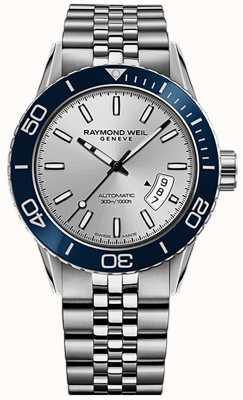 Raymond Weil Mens freelancer automatische duiker roestvrijstalen armband 2760-ST4-65001